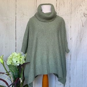 Theory Cashmere Knit Turtleneck Poncho Sweater S